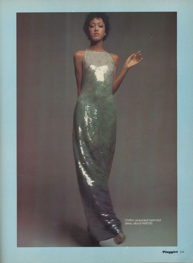 Pat Cleveland in Halston, photographed by Tracy for Playgirl, January, 1974