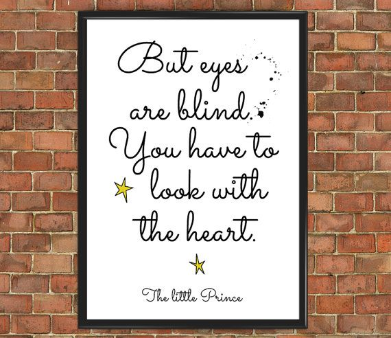 The Little Prince Quote Poster [Famous 006] Le Petit Prince wall art with the heart Art Print Wall Decor Home Gift Home Decor Inspirational