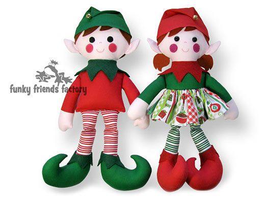 Christmas Elf Sewing Pattern tutorial | Funky Friends Factory