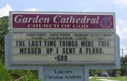 The last time things were this messed up.... GOD sent a flood