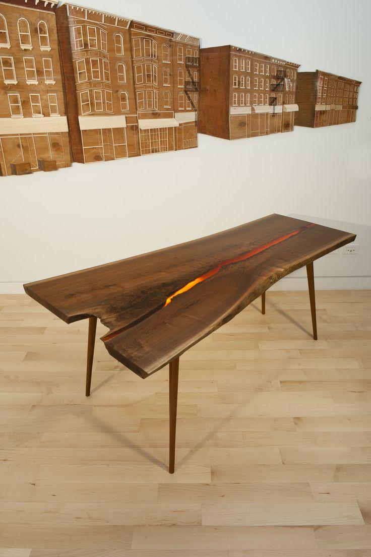 17 best images about bog oak table mooreiche tisch morta for Tisch design wood