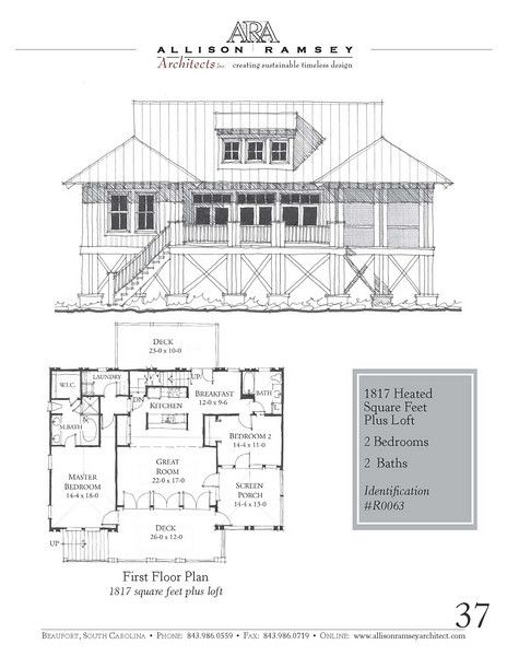 R0063 Allison Ramsey Architects House Plans In All: allison ramsey house plans