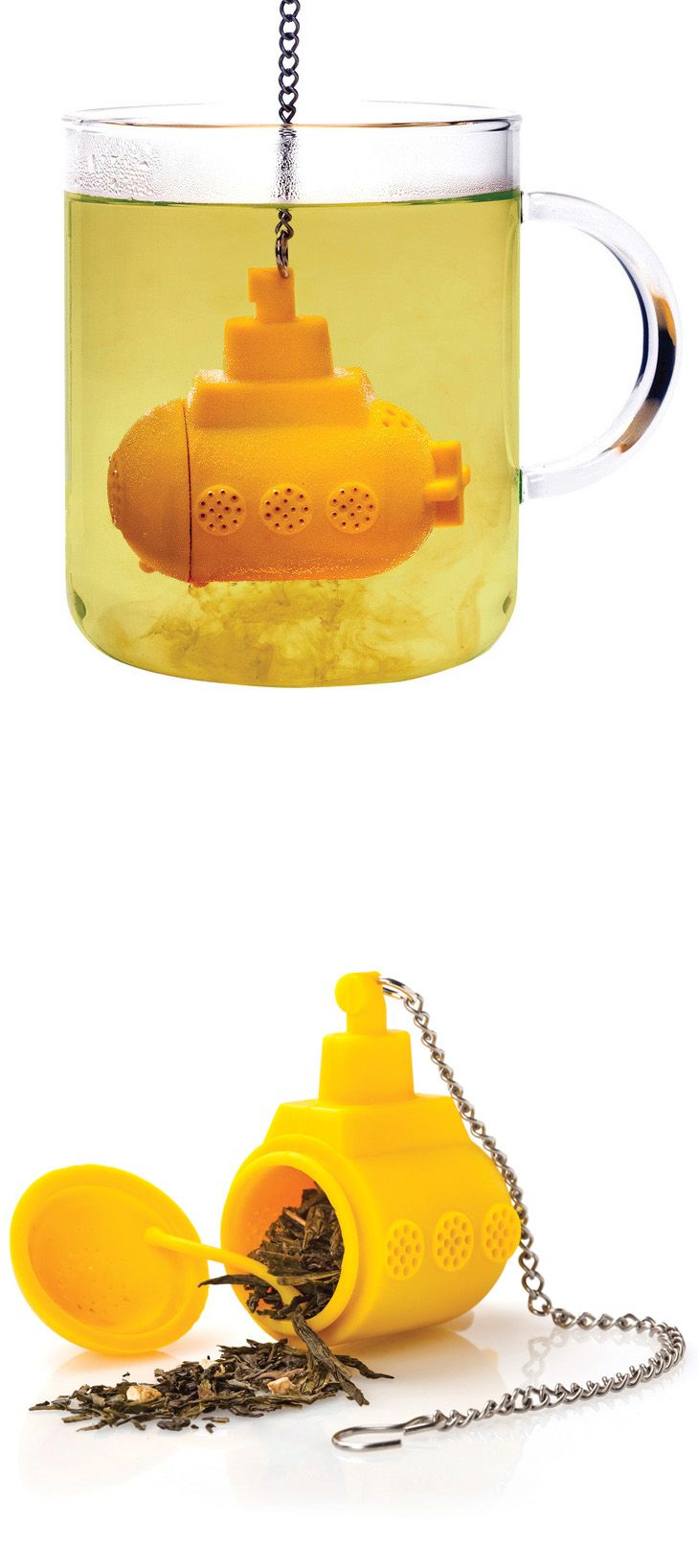 """Submarine Tea Infuser - This is awesome! """"We all [drink out of a] yellow submarine!"""""""