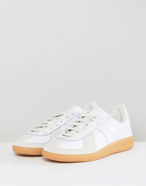 super popular 0d234 e65be adidas Originals  adidas Originals Bw Army Sneakers In White With Gum Sole