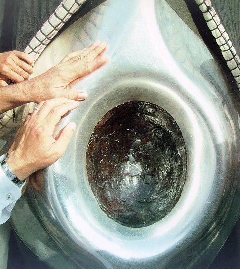 The Black Stone (Arabic: الحجر الأسود al-Ḥajar al-Aswad) is the eastern cornerstone of the Kaaba