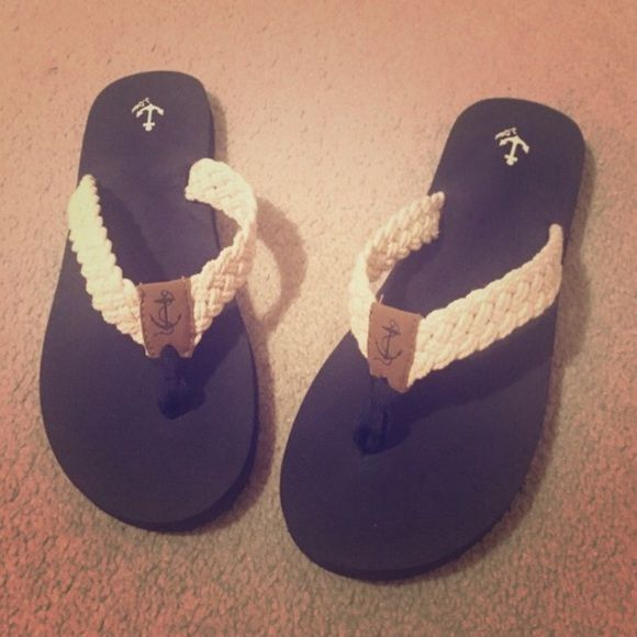 Jcrew Nautical Sandals size 8 ⚓️ Jcrew nautical sandals! Worn only twice! Very cute! J. Crew Shoes Sandals