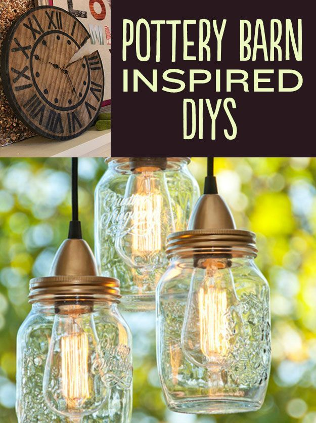 21 Pottery Barn Inspired DIYs    I pretty much want to make every one of these.