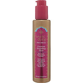 Perfect solution for fizzy hair! Mystic Divine Creations Smoothing Elixir #SallyBeauty