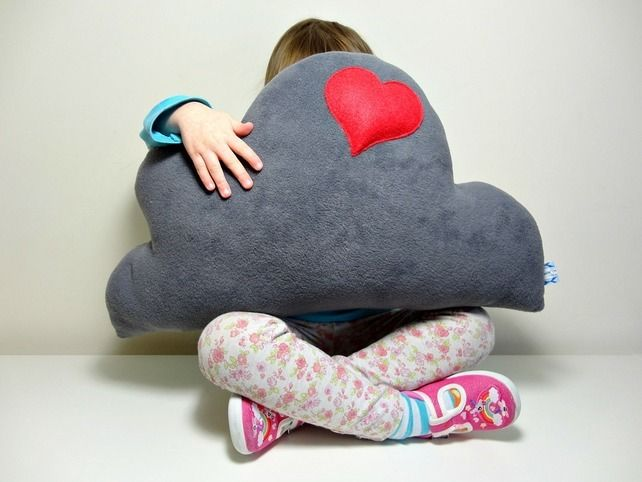 Fleece cushion idea - perhaps in white with blue heart?