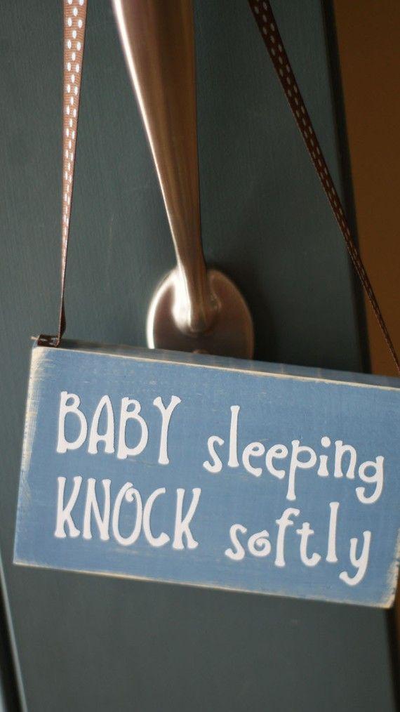 Baby Sleeping Do Not Disturb Wood Sign Door Hanger