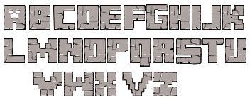 майнкрафт стили текста для фотошопа #8