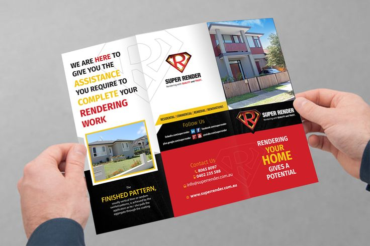 Flyer Outside Design for SuperRender Construction