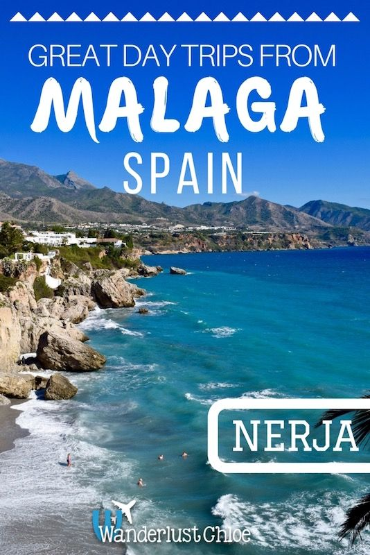 Nerja - Great Day Trips From Malaga, Spain. With its wonderful sub-tropical climate, the beautiful coastal town of Nerja is home to miles of sandy beaches, top seafood, ancient caves and what is proudly known as the Balcony of Europe. https://www.wanderlustchloe.com/malaga-day-trips-spain/