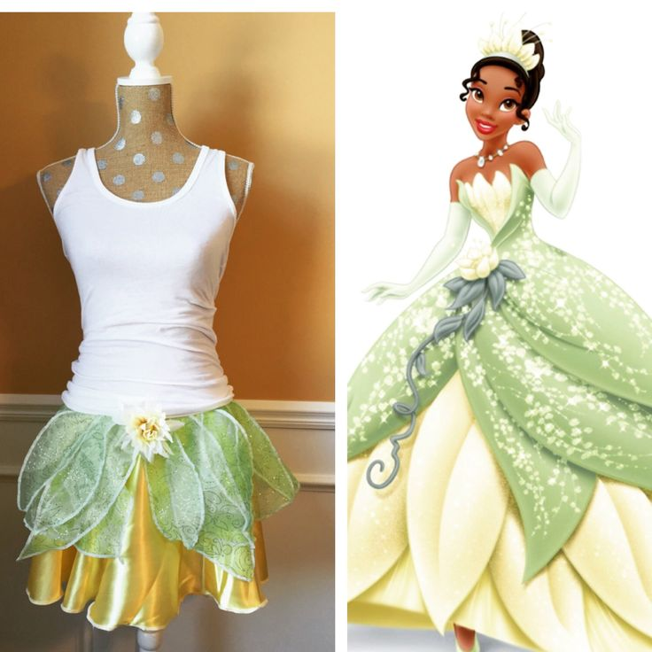 TIANA Princess and the Frog Inspired Running Skirt/ Athletic costume by Fit4aPrincessShop on Etsy https://www.etsy.com/listing/241942450/tiana-princess-and-the-frog-inspired