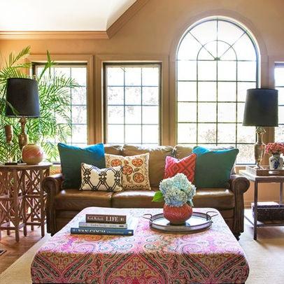 Hmm Great Way To Lighten Up A Dark Couch Bright Throw