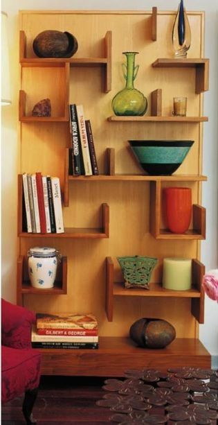 Inspiration: Jenny Armit's Custom Bookcase. Well obviously I would also have to buy beautiful pots to put on the shelves as well