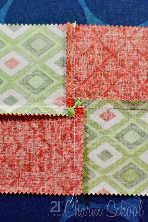 Tutorial: How to make a perfect four-patch quilt block