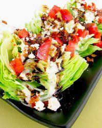 Outback Steakhouse Wedge Salad. This is a classic salad recipe with the perfect dressing recipe to match it.