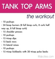 Tank Top Arms Workout health fitness exercise workout