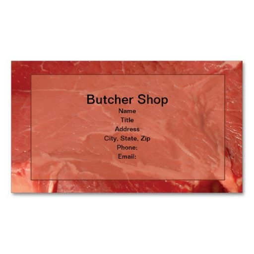 17 best images about butcher business cards on pinterest