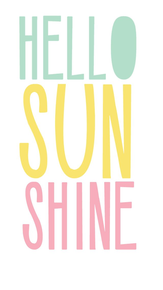 Free Hello Sunshine {iPhone Wallpaper} - use for a project life filler card