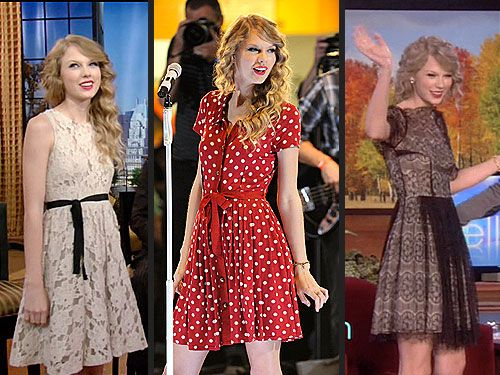 tracy reese dress on taylor swift, from 12/2010 collection