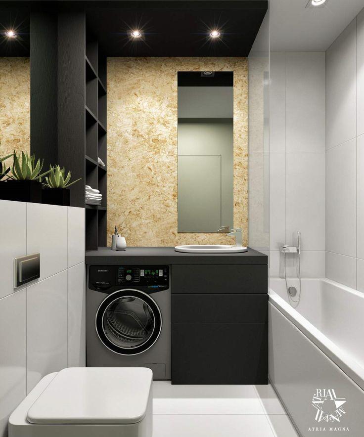 Черно-белая ванная комната от Atria Magna
