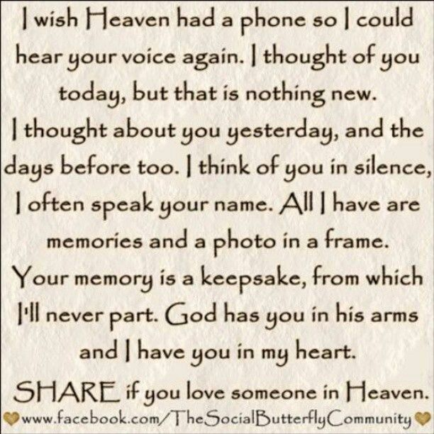 Pinterest Thinking Of You Quotes: If Heaven Had A Phone