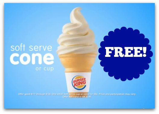 Burger King Nutrition Ice Cream Cone - Nutrition Ftempo