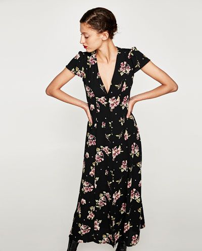 LONG PRINTED DRESS-View all-DRESSES-WOMAN | ZARA United States