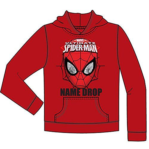 Marvel Comics Ultimate Spider Man Boys Pullover Hoodie Sweater - Red @ niftywarehouse.com #NiftyWarehouse #Spiderman #Marvel #ComicBooks #TheAvengers #Avengers #Comics