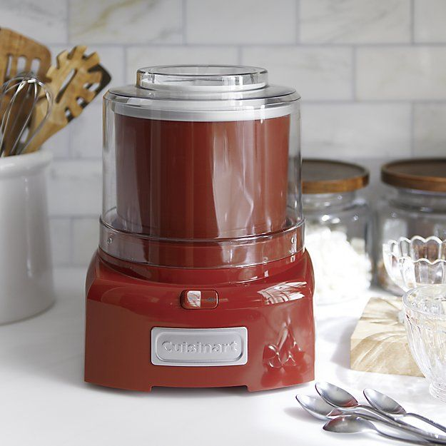 Free Shipping.  Shop Red Cuisinart Frozen Yogurt Maker ICE-21R.   Purchase a Cuisinart Ice Cream Maker and receive a free freezer bowl from Cuisinart with mail-in rebate.  Use this  now through December 25.