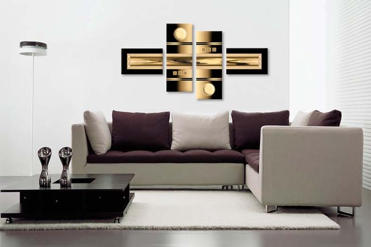 Tablou abstract 1852 cappuccino  Dimensiuni: 2x 40x25 - 2x 25x60 cm  Total: 130x70 cm