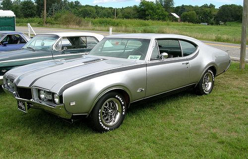 1968 Hurst/Olds 442. The custom silver is so cool