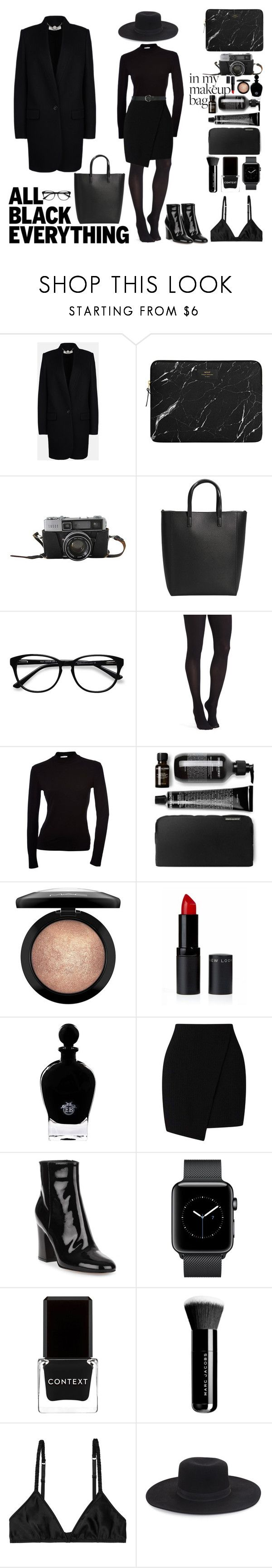 """""""simplicity"""" by deadbeat-horn on Polyvore featuring STELLA McCARTNEY, MANGO, EyeBuyDirect.com, Commando, MAC Cosmetics, EB Florals, Miss Selfridge, Gianvito Rossi, Context and Marc Jacobs"""