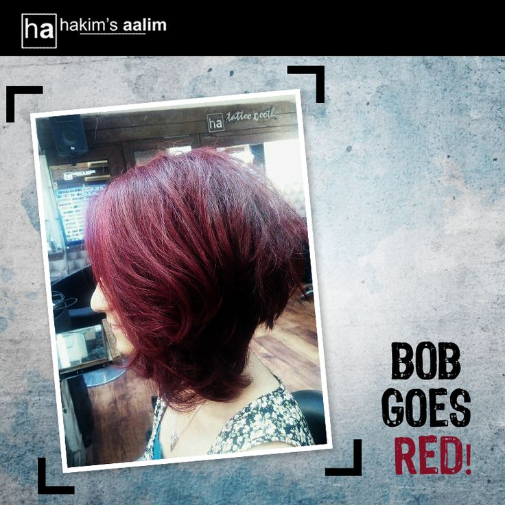 If you thought red is a winter hue, think again. Red hair with textured Bob can be your best hairdo this season. Try it.  Done by Ridhima, Style Director.