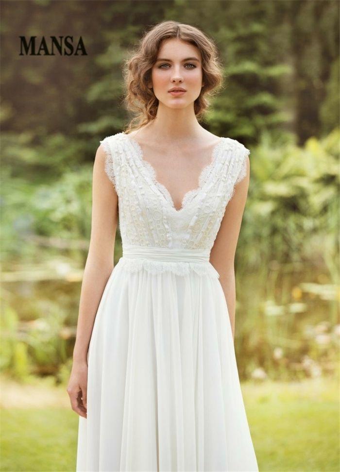 ▷ 1001 + ideas de vestidos de novia sencillos para tu boda