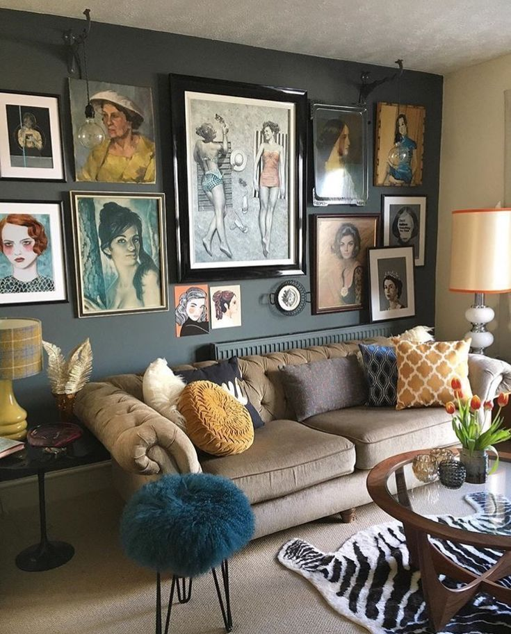 The Girl With The Green Sofablog Homelou Watkins Midcentury Vintage Inspired Hom In 2021 Colorful Eclectic Living Room Bohemian Living Room Decor Eclectic Living Room Vintage inspired living room decor