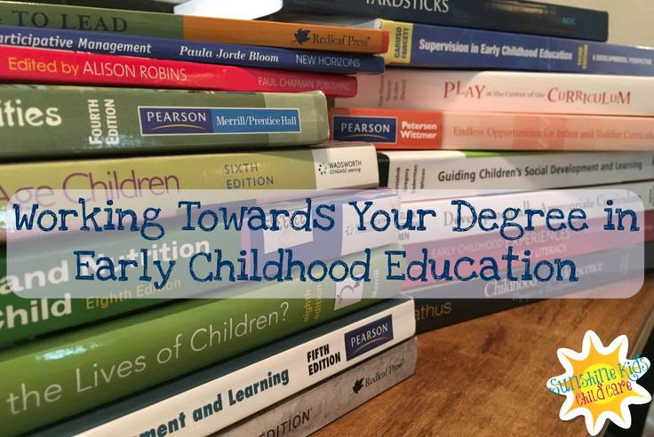 Working Towards Your Degree in Early Childhood Education http://sunshinekidschildcare.com/2016/05/24/working-towards-your-degree-in-early-childhood-education/