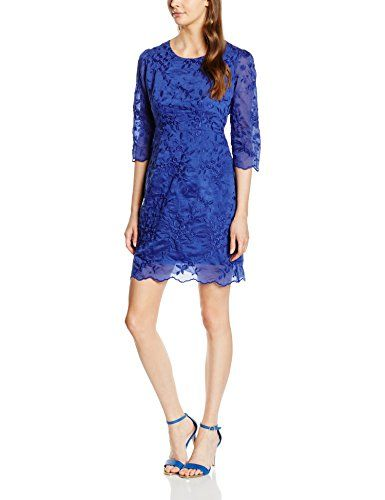 Almost Famous Damen Kleid Colour Pop Embroidered Shift Dress