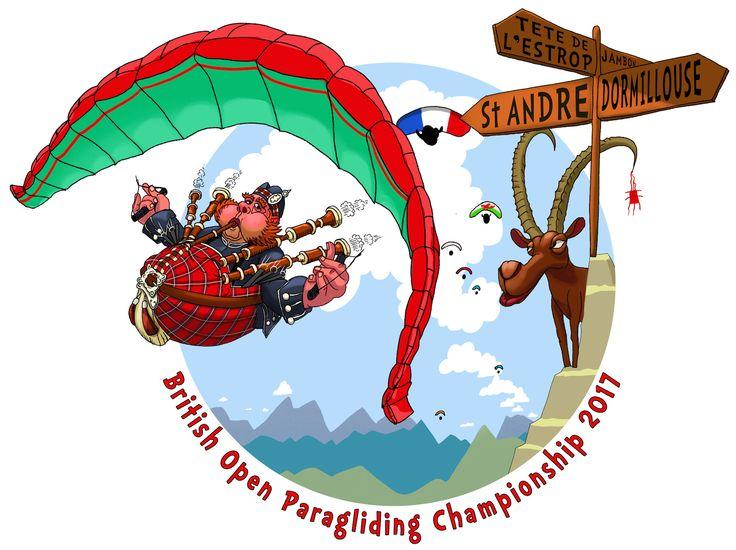 bagpiping highlander paragliding