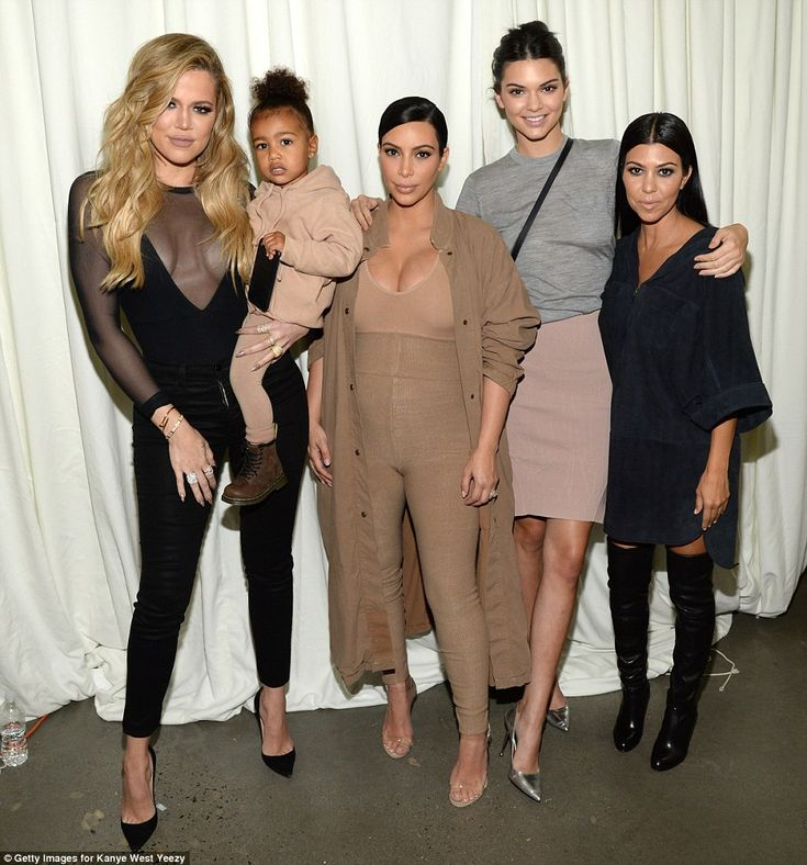 The Kardashian clan! Khloe Kardashian, Kendall Jenner, and Kourtney Kardashian all attended the show to lend their support to sister Kim and her husband
