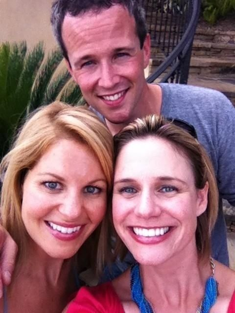 """""""Full House"""" Stars Candace Cameron And Scott Weinger Are Playing A TV Couple Again. Picture also with Andrea."""