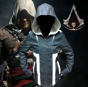 Assassin's Creed Cosplay Costume Ezio Connor Coat Jeans Hoodie denim Jacket