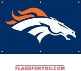 Broncos Fan Banner 2ft x 3ft