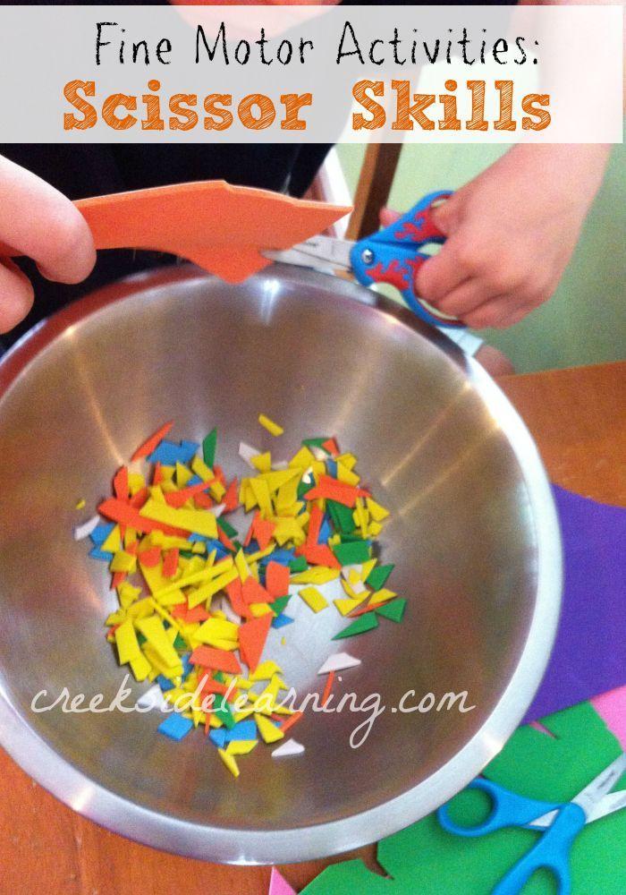 264 best scissor skills images on pinterest day care for List of fine motor skills for preschoolers