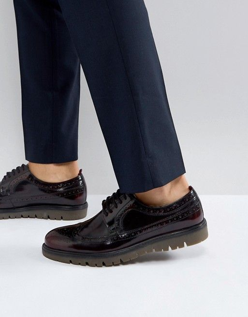 Walk London Timmy Chunky Brogue Shoes