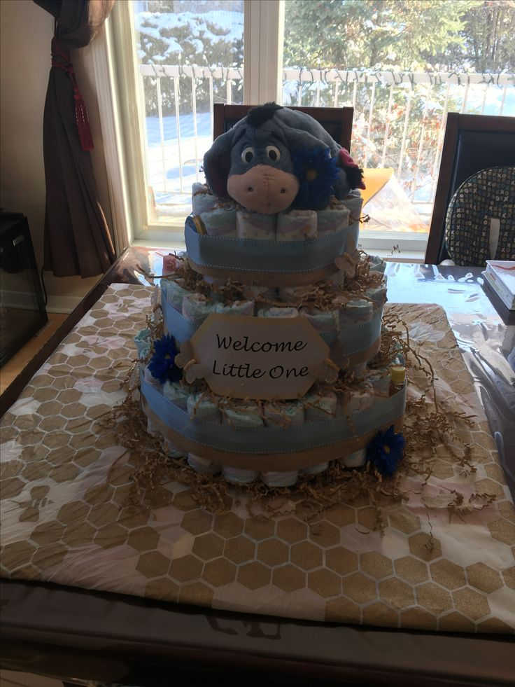 Eeyore diaper cake