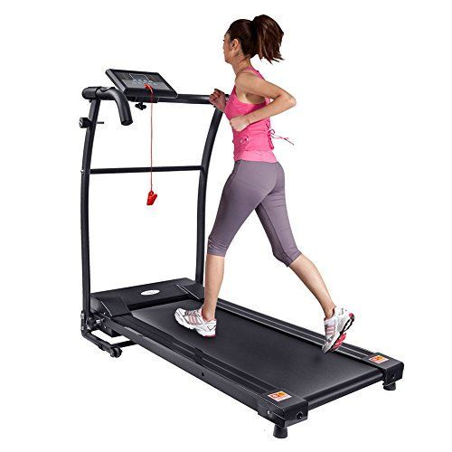 Motorised Electric Treadmill with Grip Heart Rate, Fitness Running Machine