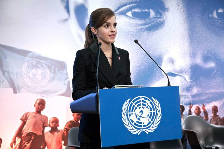 """Emma Watson defines feminism as """"the theory of political, economic and social equality of the sexes."""" Learn more about the inspiring actress with TIME's """"100 Most Influential People."""" (photo: Celeste Sloman—UN Women)"""